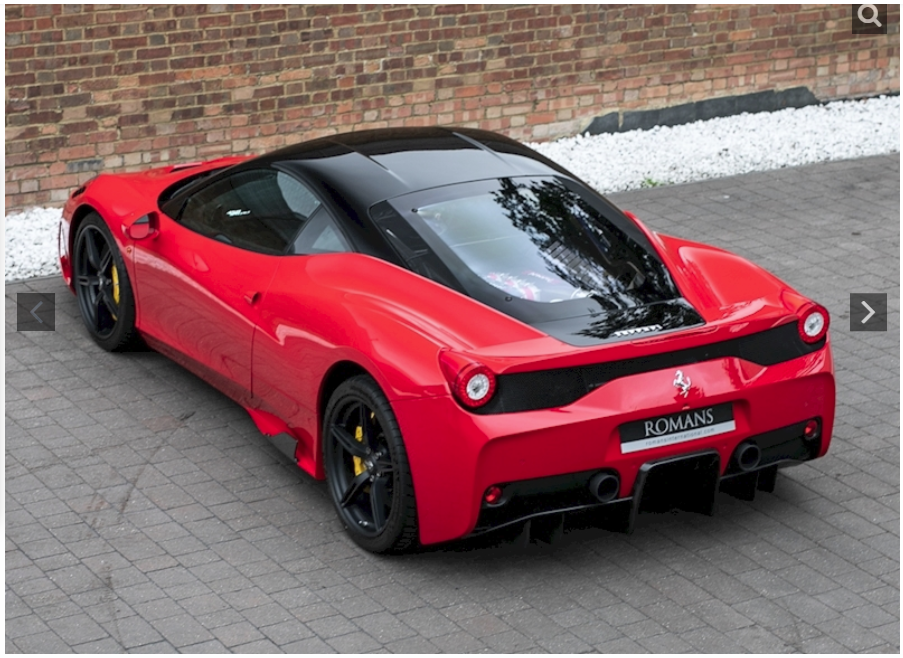 sports car - ferrari4-back